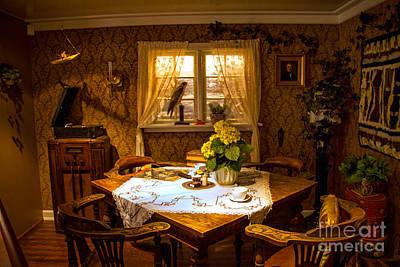 Photograph - Cozy Dinning Room by Rick Bragan