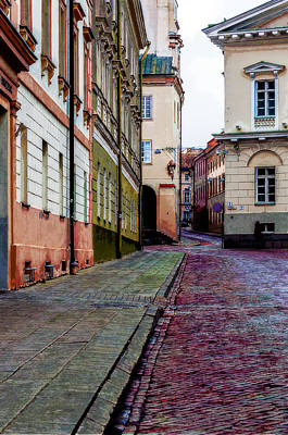 Old Town Digital Art - Cozy Old Town by Yevgeni Kacnelson