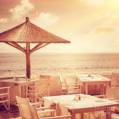 Photograph - Cozy Restaurant On The Beach by Anna Om