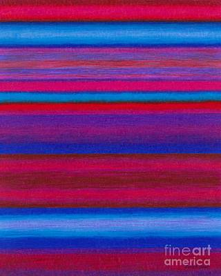 Colored Pencil Abstract Painting - Cp015 by David K Small