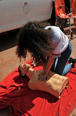 Cpr Training Art Print by Photostock-israel