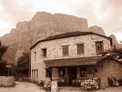 Photograph - Cottage At The Foot Of Mountain by Alexandros Daskalakis