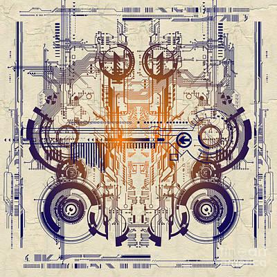Processor Digital Art - Cpu IIi by Diuno Ashlee