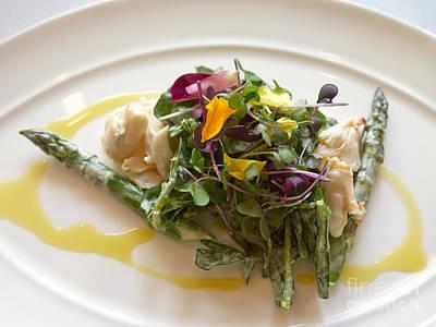 Vinaigrette Photograph - Crab And Asparagus Salad by Louise Heusinkveld