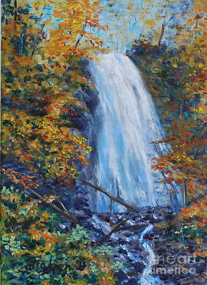 Crab Apple Falls Art Print by Stanton Allaben