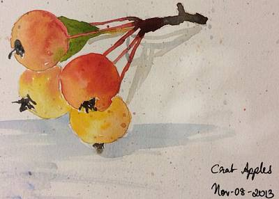 Painting - Crab Apple by Suvitha Ramaswamy