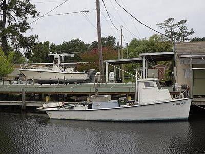 From The Kitchen - Crab Boat Docked In Canal 12 by Rick Rosenshein