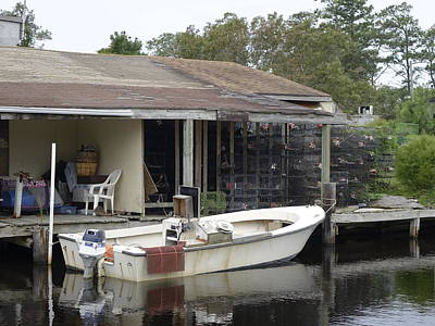 Catch Of The Day - Crab Boat Docked In Canal 15 by Rick Rosenshein