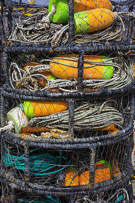 Cage Photograph - Crab Cages by Garry Gay