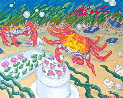 Crab Cakes Art Print by Linda Zolten Wood