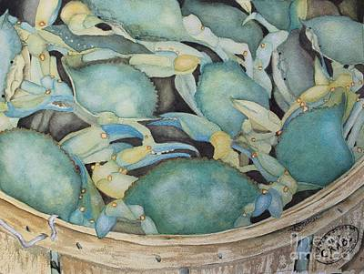Painting - Crab Fest by Kathy Staicer