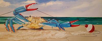 Painting - Crab Fishing by John  Duplantis