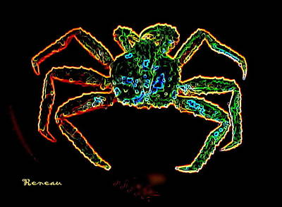 Photograph - Crab In Neon by Sadie Reneau