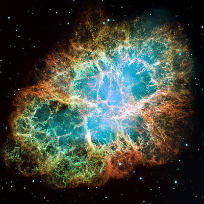 Nebula Photograph - Crab Nebula by Space Art Pictures