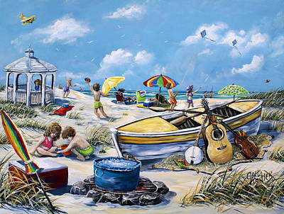 Painting - Crab Pickin by Gail Butler
