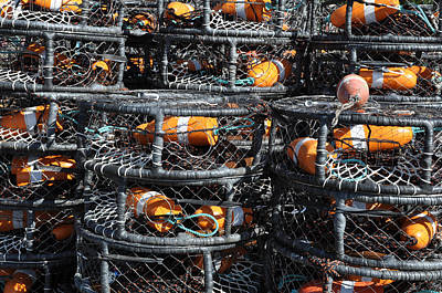 Crab Pots Print by Brandon Bourdages