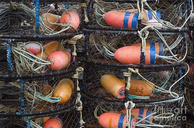 Crab Traps Photograph - Crab Pots by John Shaw