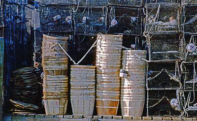 Crab Basket Photograph - Crab Pots by Skip Willits