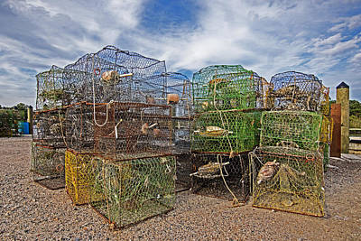 Photograph - Crab Pots Waiting At The Dock by Bill Swartwout