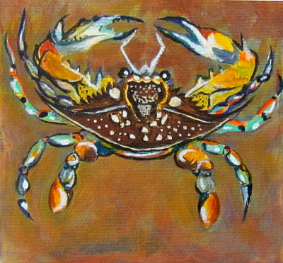 Painting - Crab by Susan Duxter