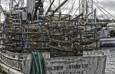 Crab Traps Art Print by Timothy Latta