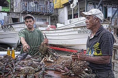 Crabbers At Popotla Art Print