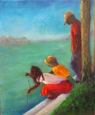 Painting - Crabbers by Sarah Barnaby