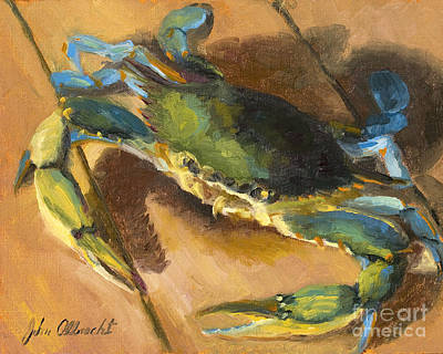 Lowcountry Painting - Crabby Too by John Albrecht