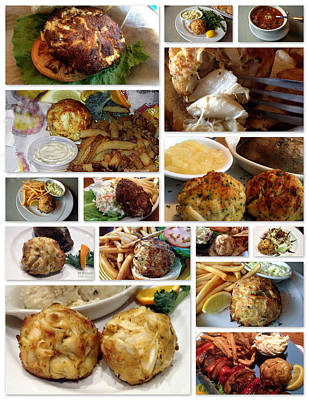 Photograph - Crabcakes Collage by Bill Swartwout