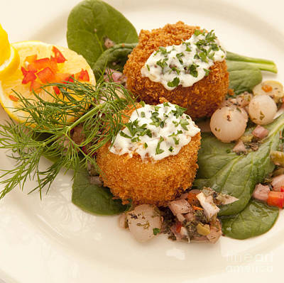 Photograph - Crabcakes by New  Orleans Food