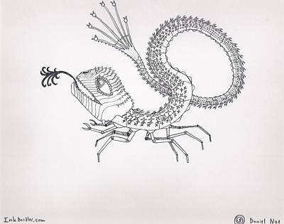 Drawing - Crabdragon by Daniel Noe
