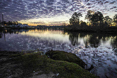 Photograph - Crabtrap And Bon Secour Sunrise by Michael Thomas