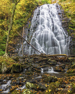 Photograph - Crabtree Falls In Yellow by Anthony Heflin