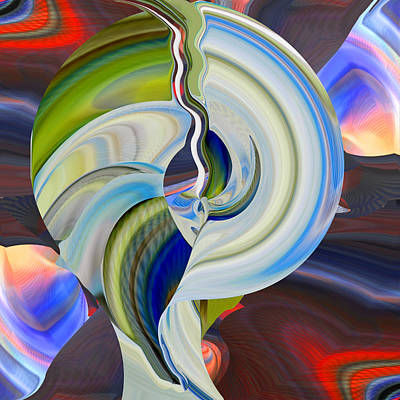 Digital Art - Crack Of Dawn by rd Erickson