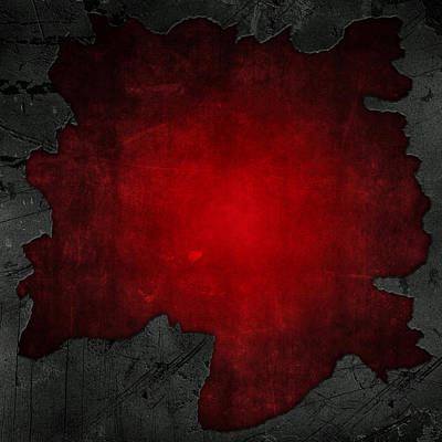Cracked Concrete And Red Grunge Background Original by Kirsty Pargeter