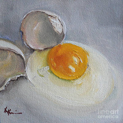 Poaching Painting - Cracked Egg by Kristine Kainer