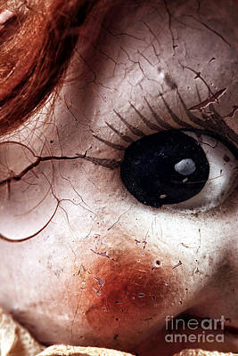 Photograph - Cracked Eye by John Rizzuto
