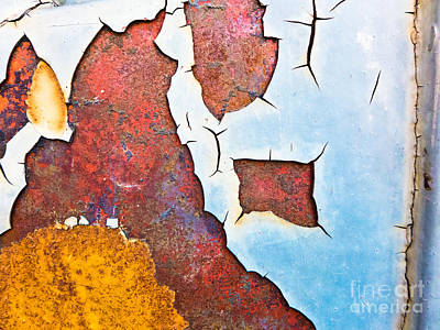 Photograph - Cracked Gate Detail by Silvia Ganora