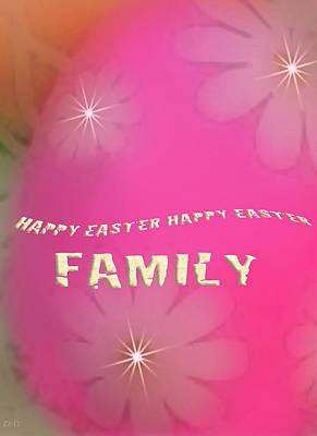 Cracked Happy Easter Art Print by Debra     Vatalaro