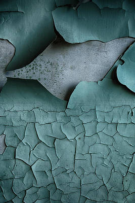 Derelict Photograph - Cracked Peeling Paintwork by Russ Dixon