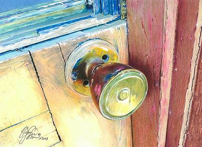 Entrance Door Mixed Media - Cracked Up by Tess Lee