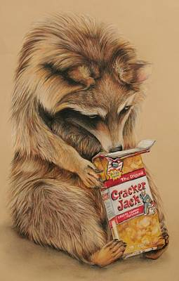 Cracker Jack Bandit Art Print by Jean Cormier