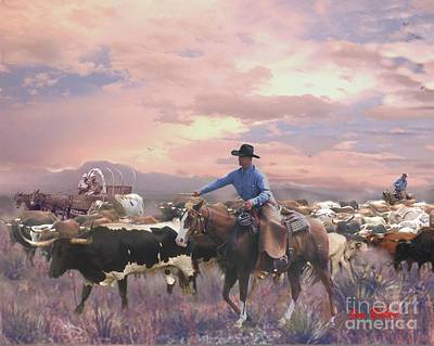 Working Cowboy Digital Art - Crackin The Whip by Jim Baker