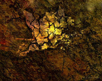 Digital Art - Crackled Abstract by J Larry Walker