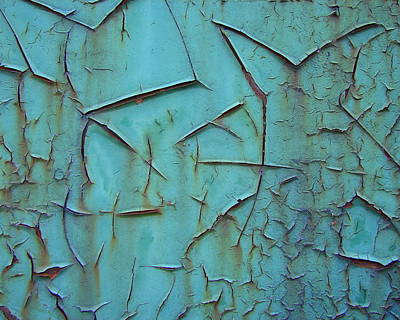 Photograph - Crackled Rust by Ramona Johnston