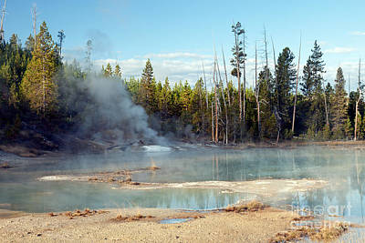 Photograph - Crackling Lake In Norris Geyser Basin by Fred Stearns