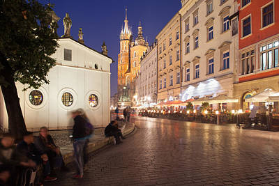 Cracow Photograph - Cracow By Night In Poland by Artur Bogacki