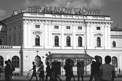Cracow Photograph - Cracow Train Station by Pati Photography