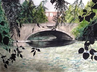 Craddock Bridge Down Under Art Print by June Holwell