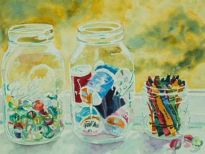 Windowsill Painting - Craft Room Pickles by Jenny Armitage